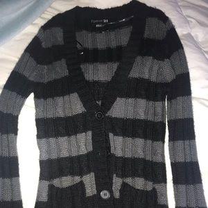 Black and grey cardigan
